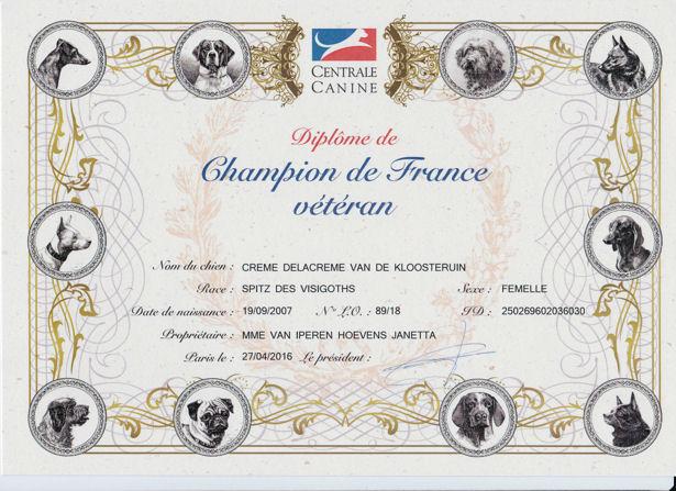 Creme CH Veteran France LR
